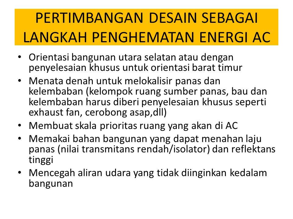 PERTIMBANGAN DESAIN SEBAGAI LANGKAH PENGHEMATAN ENERGI AC