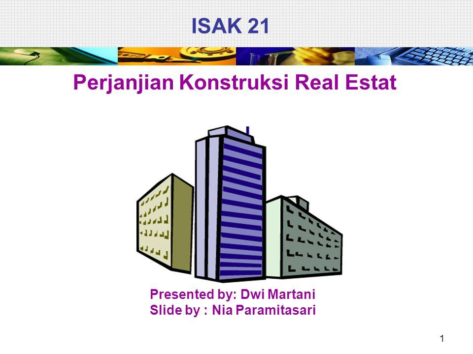 ISAK 21 Perjanjian Konstruksi Real Estat