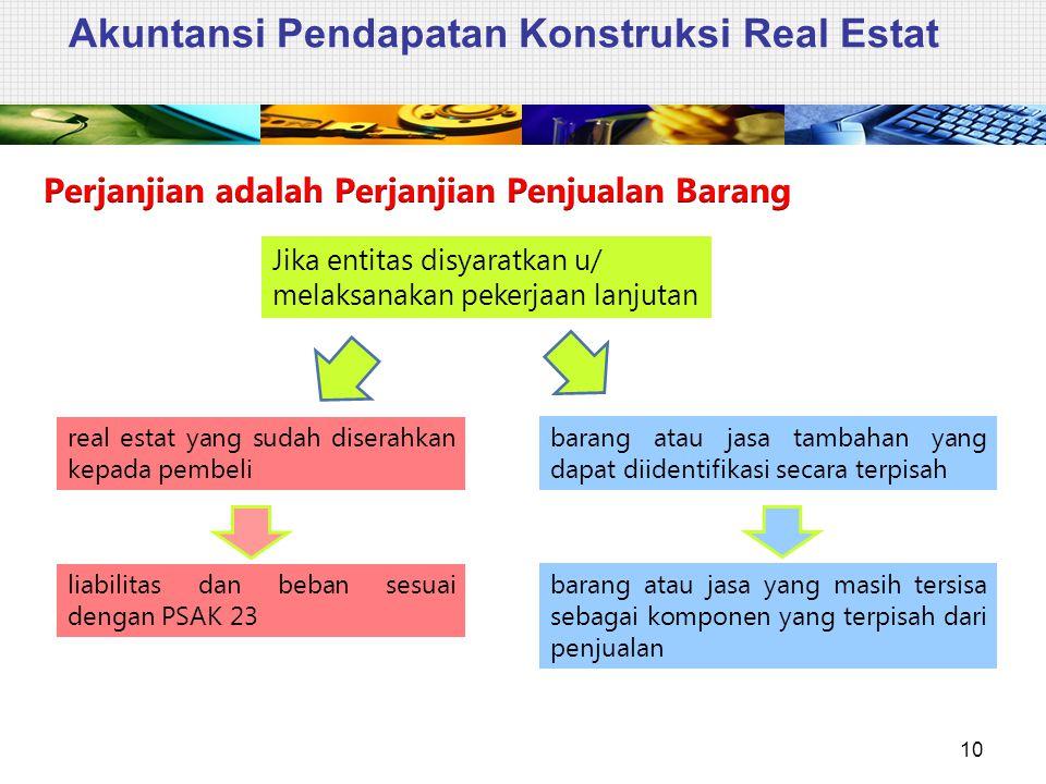 Akuntansi Pendapatan Konstruksi Real Estat