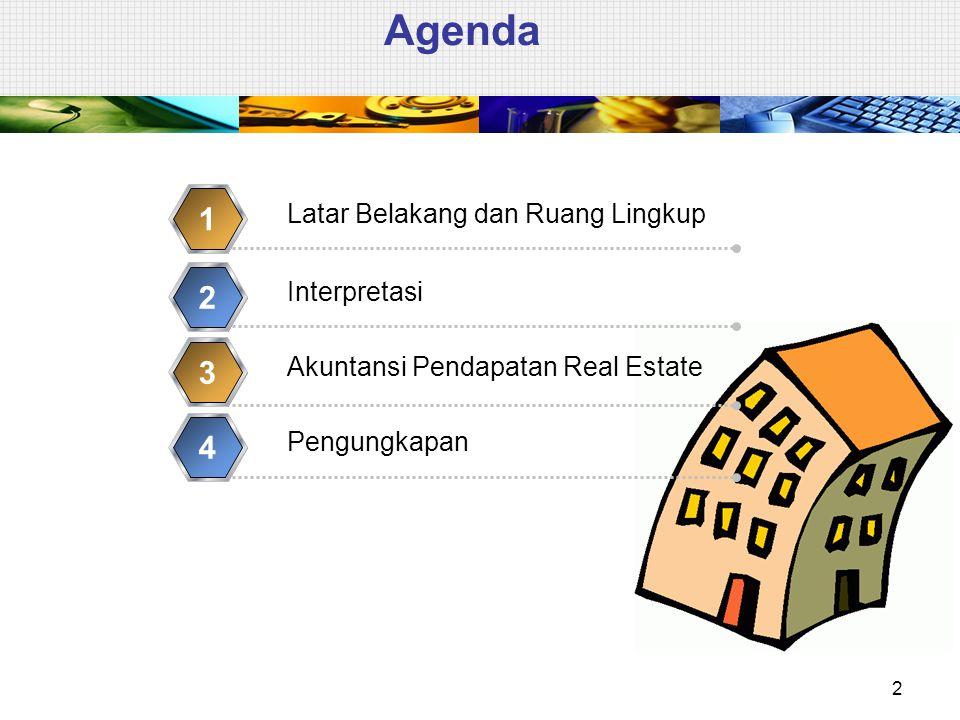 Agenda 1 2 3 4 Latar Belakang dan Ruang Lingkup Interpretasi