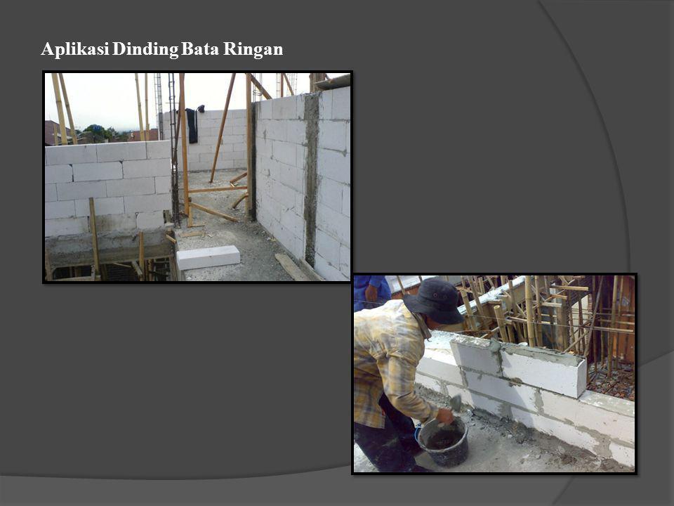 Aplikasi Dinding Bata Ringan