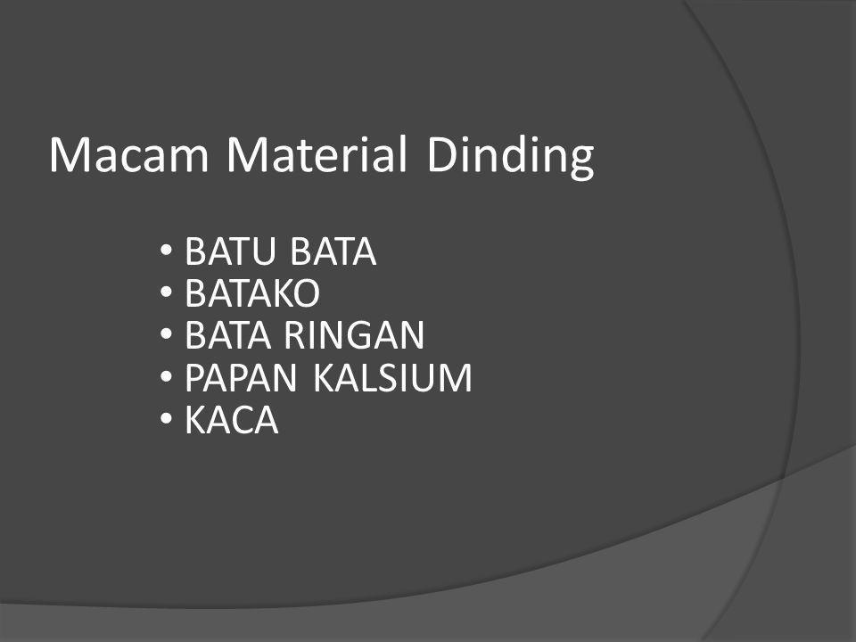 Macam Material Dinding