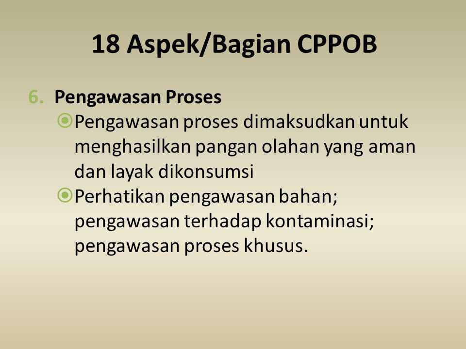 18 Aspek/Bagian CPPOB Pengawasan Proses