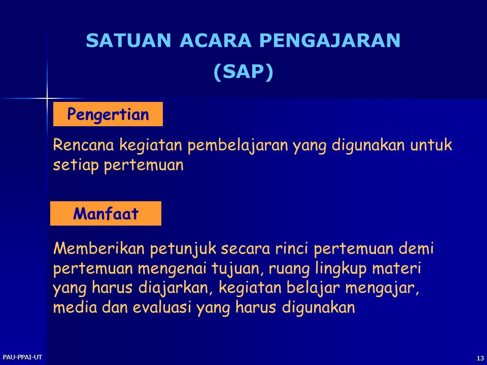 SATUAN ACARA PENGAJARAN (SAP)