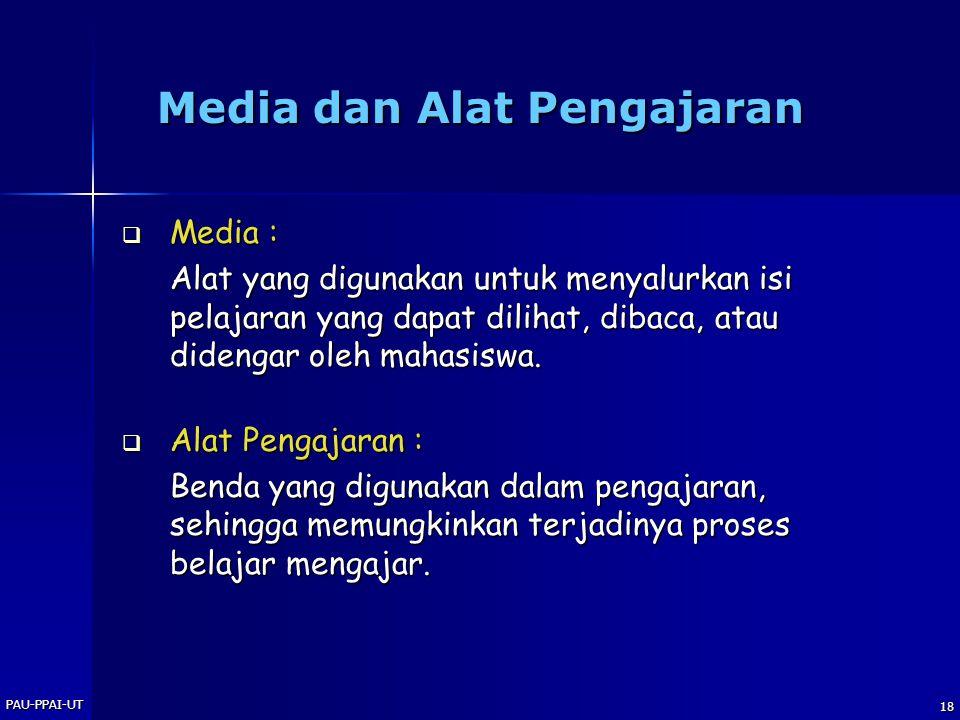 Media dan Alat Pengajaran