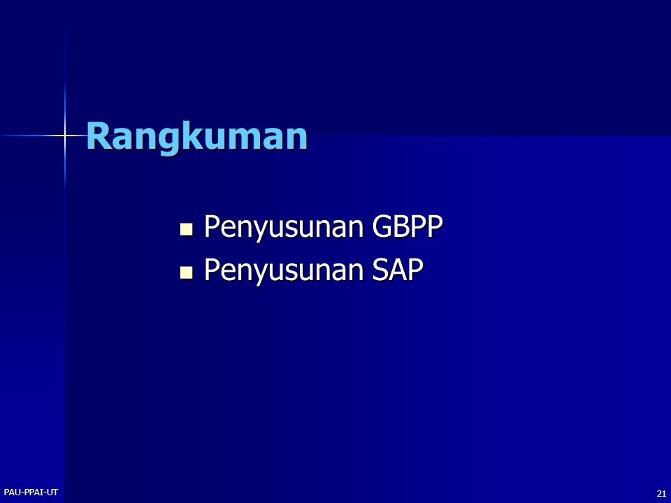 Rangkuman Penyusunan GBPP Penyusunan SAP PAU-PPAI-UT