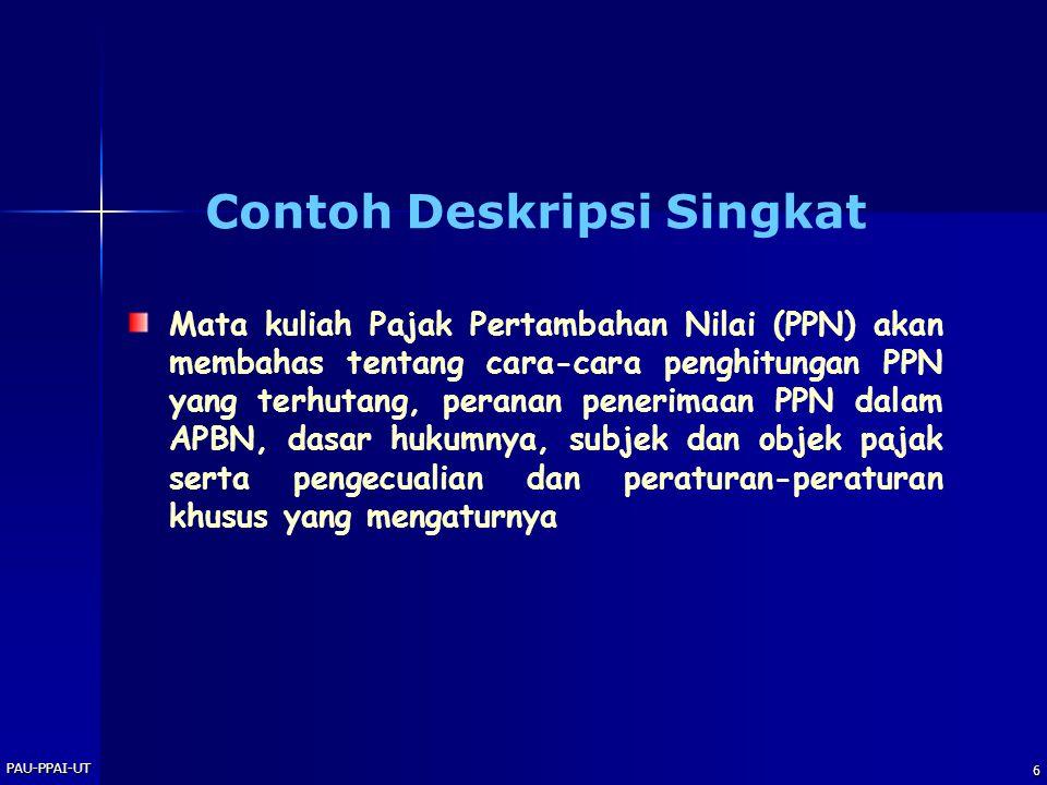 Contoh Deskripsi Singkat