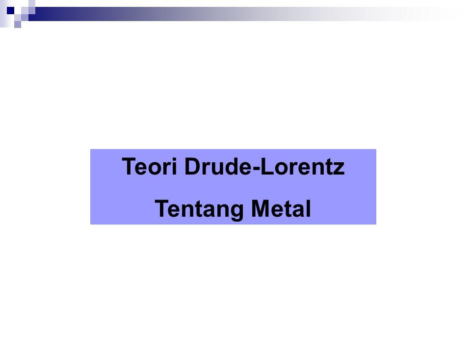 Teori Drude-Lorentz Tentang Metal