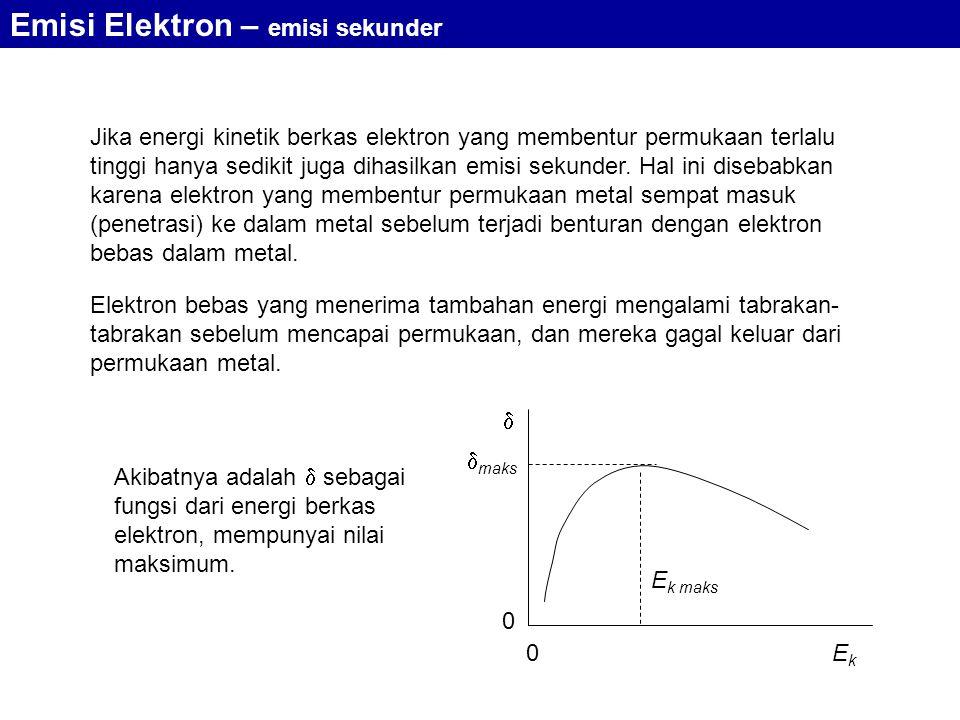 Emisi Elektron – emisi sekunder