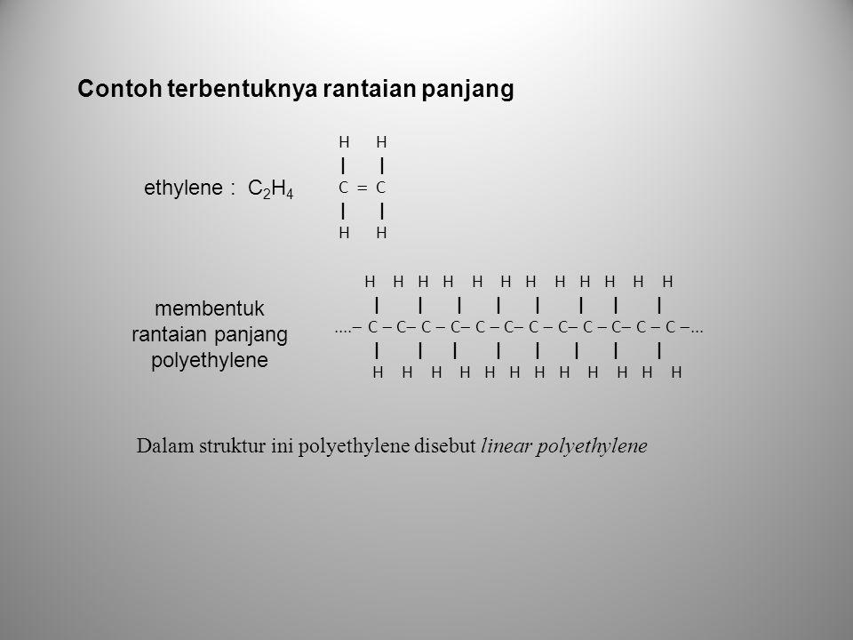 membentuk rantaian panjang polyethylene