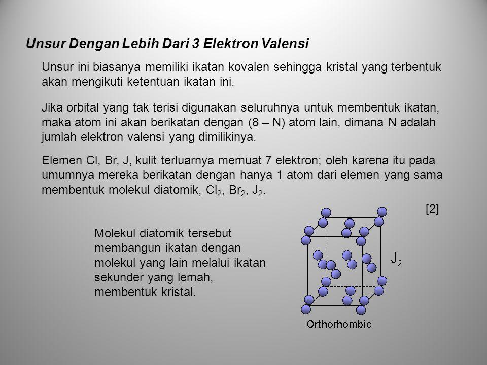 Unsur Dengan Lebih Dari 3 Elektron Valensi