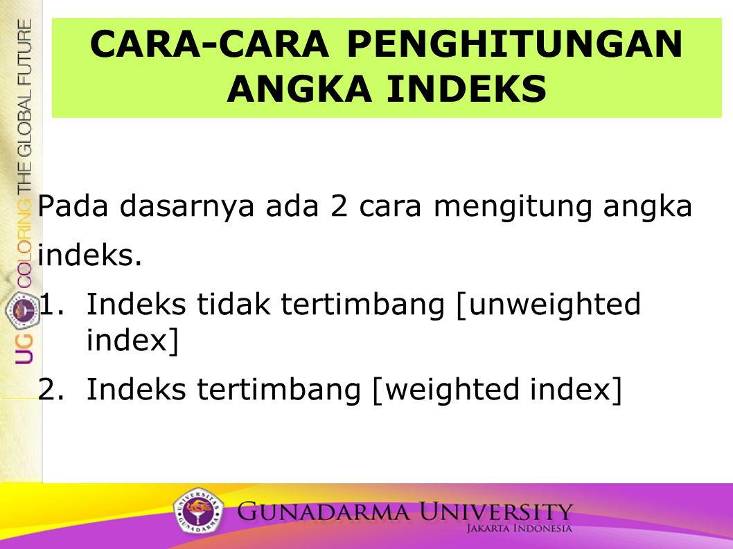 CARA-CARA PENGHITUNGAN ANGKA INDEKS