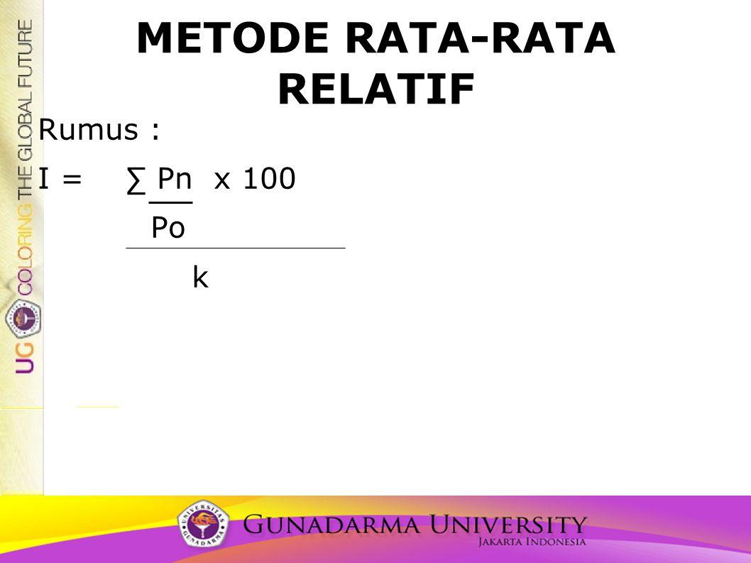 METODE RATA-RATA RELATIF