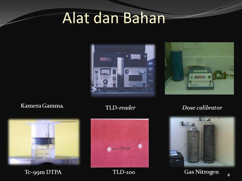Alat dan Bahan Kamera Gamma. TLD-reader Dose calibrator Tc-99m DTPA
