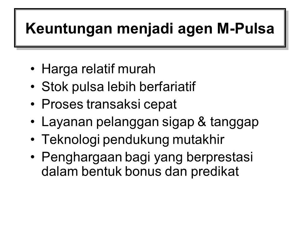 Keuntungan menjadi agen M-Pulsa