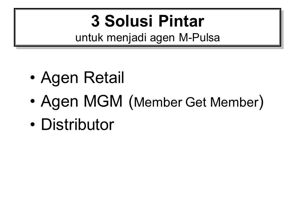 3 Solusi Pintar untuk menjadi agen M-Pulsa