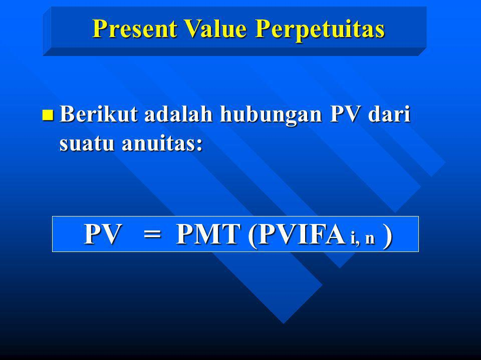 Present Value Perpetuitas