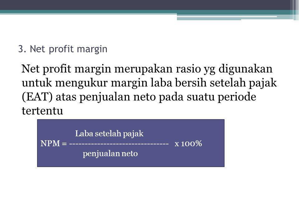 3. Net profit margin