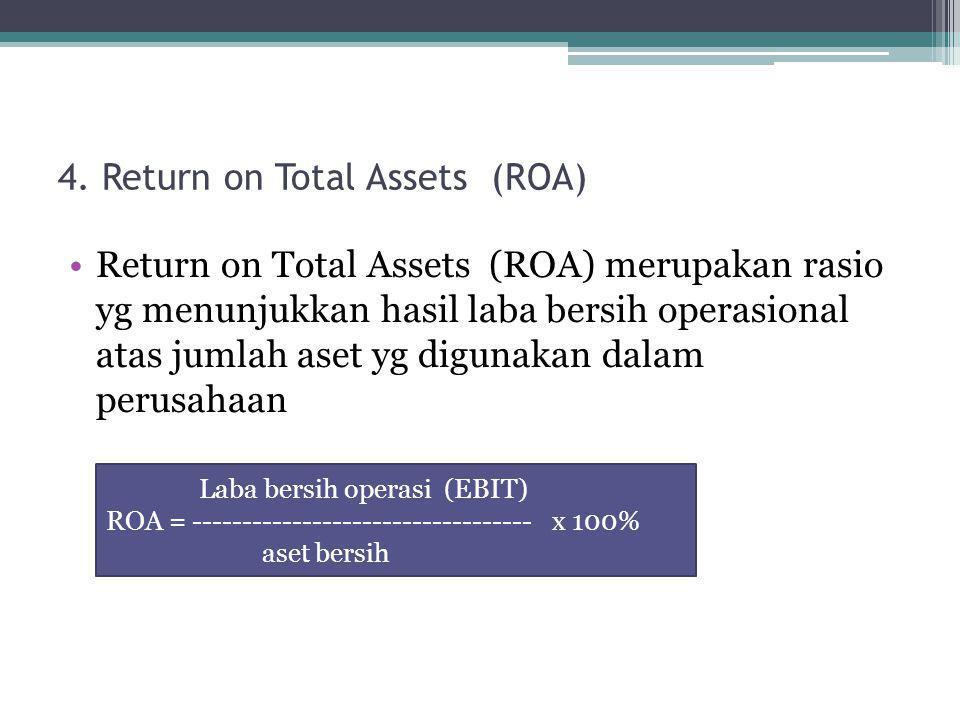 4. Return on Total Assets (ROA)