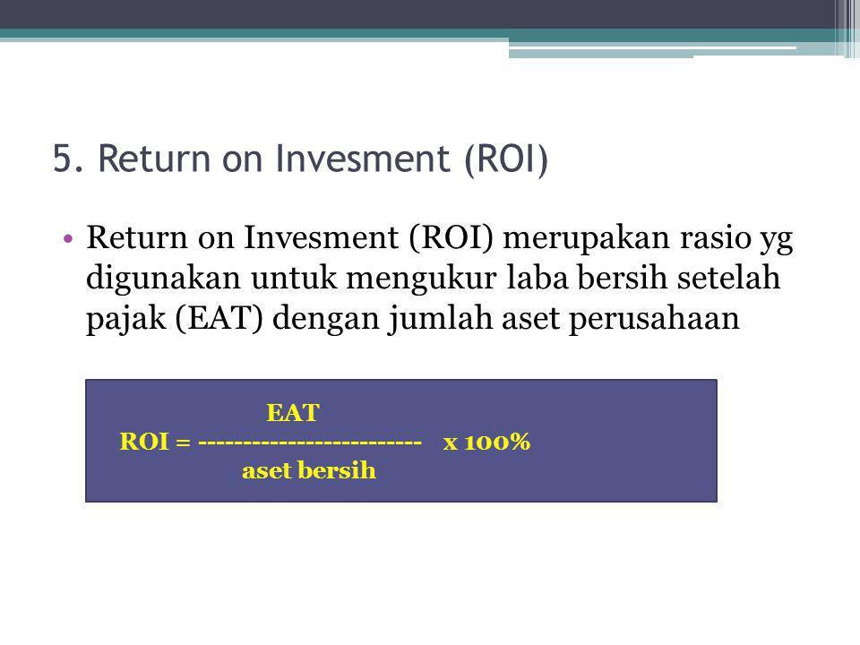 5. Return on Invesment (ROI)