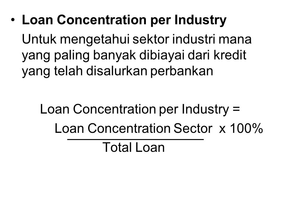 Loan Concentration per Industry