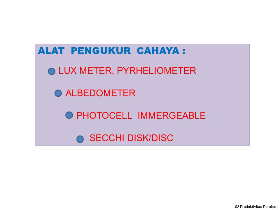 LUX METER, PYRHELIOMETER ALBEDOMETER PHOTOCELL IMMERGEABLE