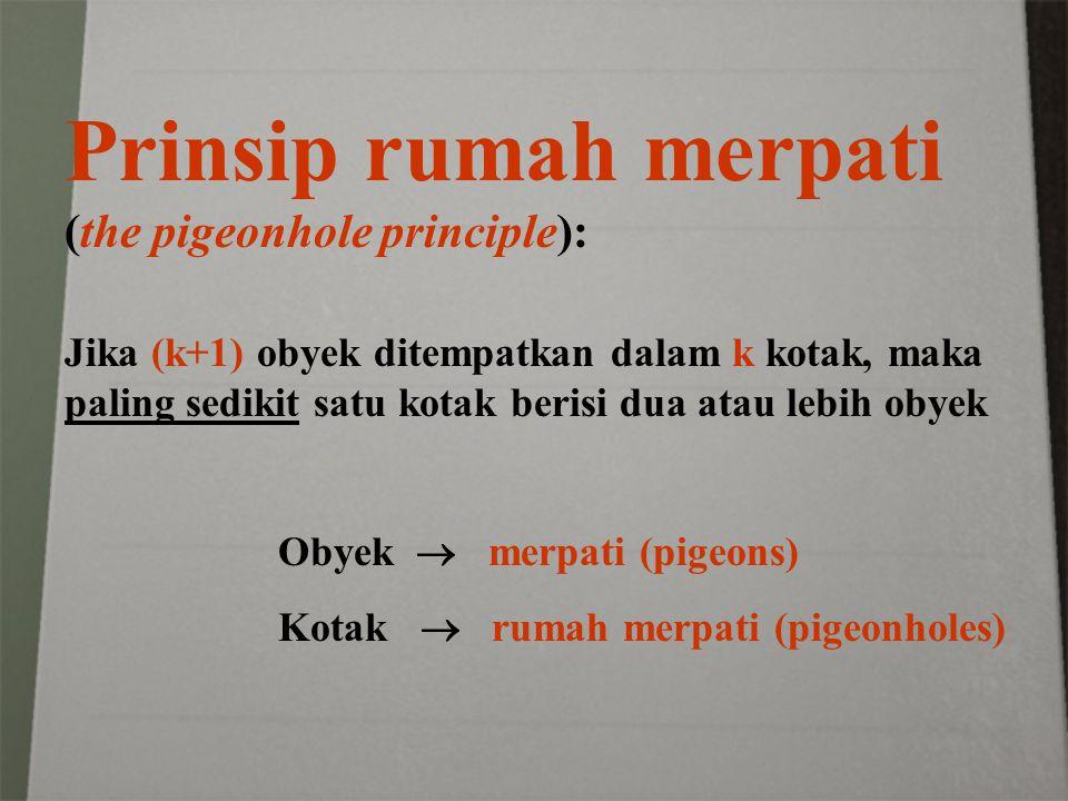 Prinsip rumah merpati (the pigeonhole principle):
