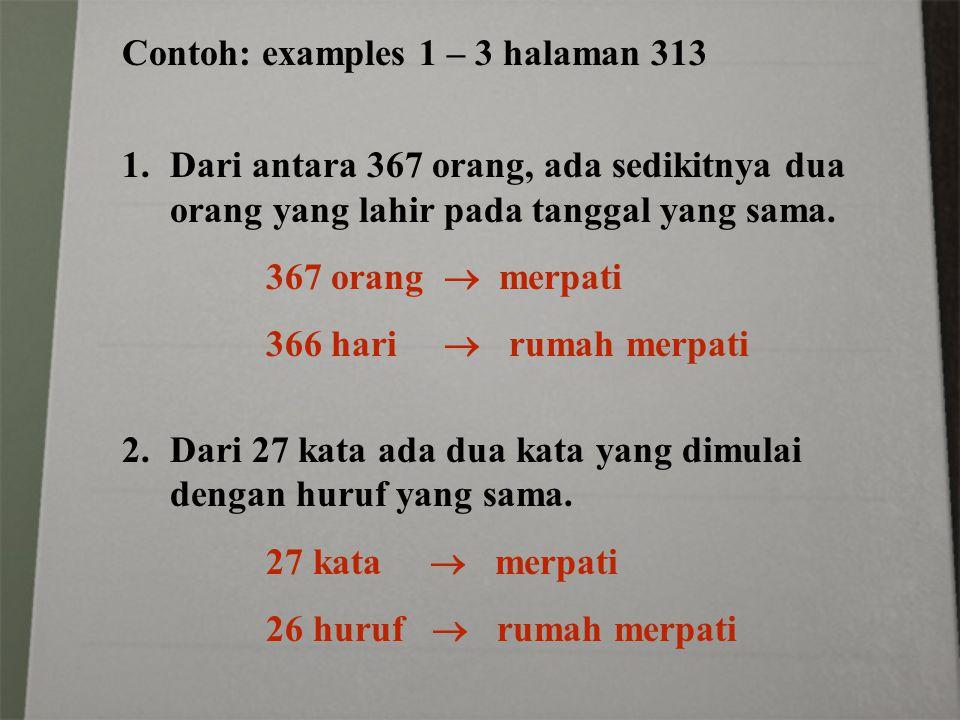 Contoh: examples 1 – 3 halaman 313