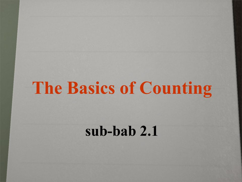The Basics of Counting sub-bab 2.1