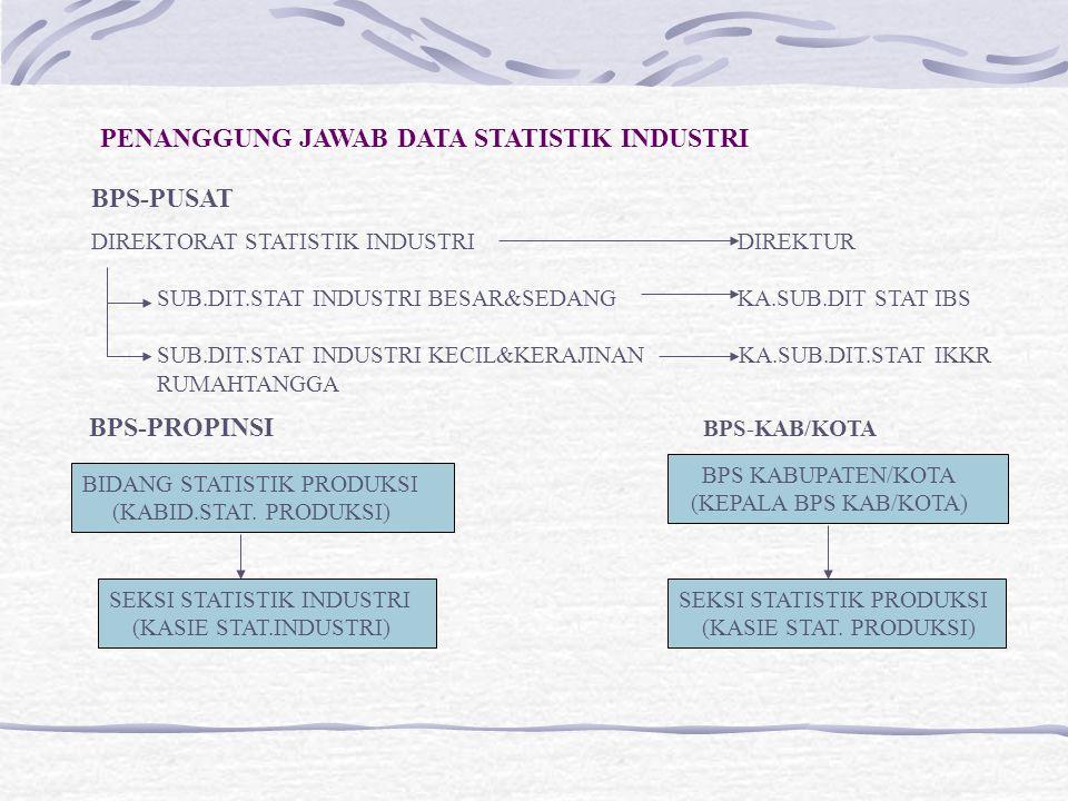PENANGGUNG JAWAB DATA STATISTIK INDUSTRI