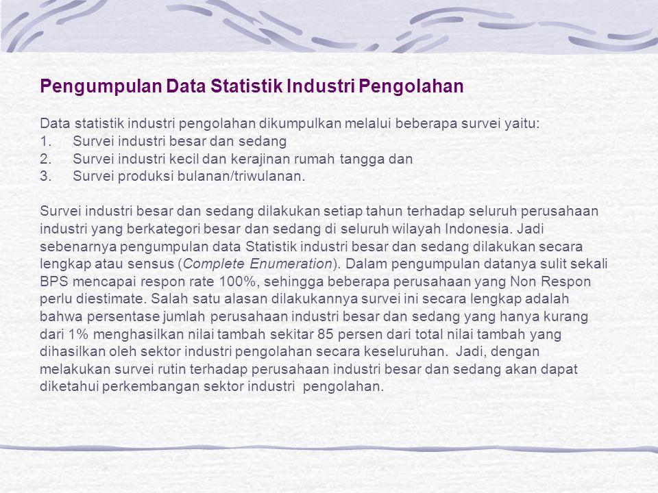 Pengumpulan Data Statistik Industri Pengolahan
