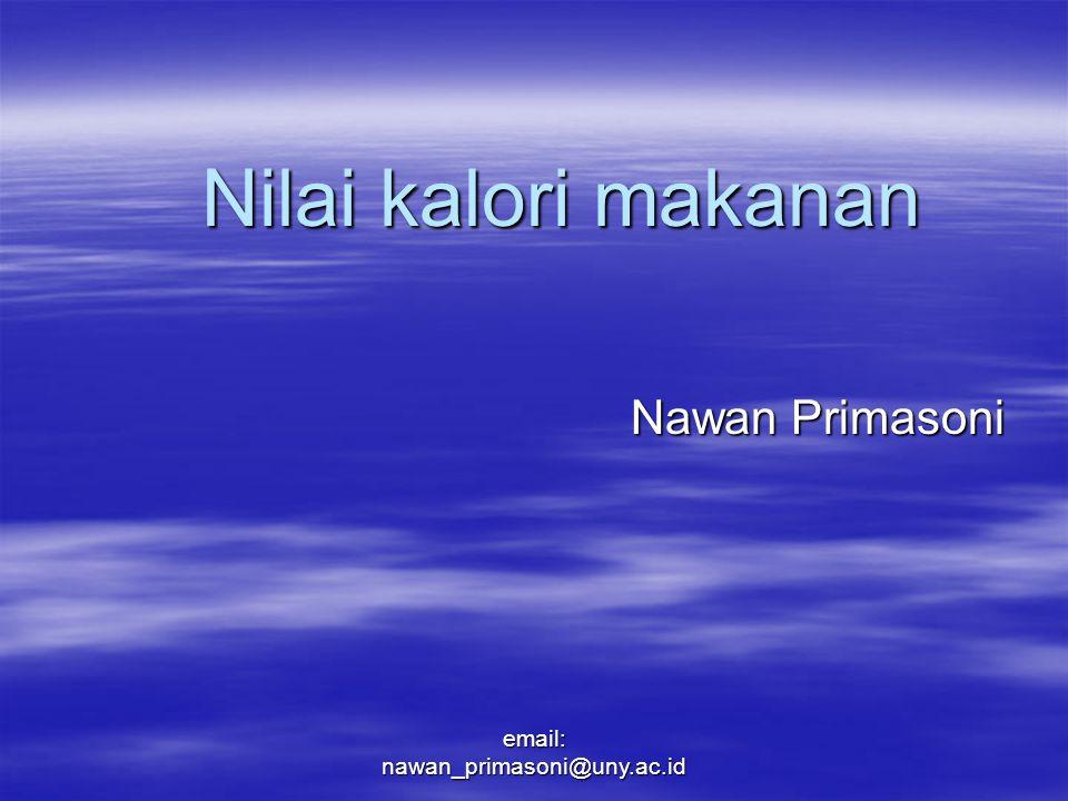 Nilai kalori makanan Nawan Primasoni