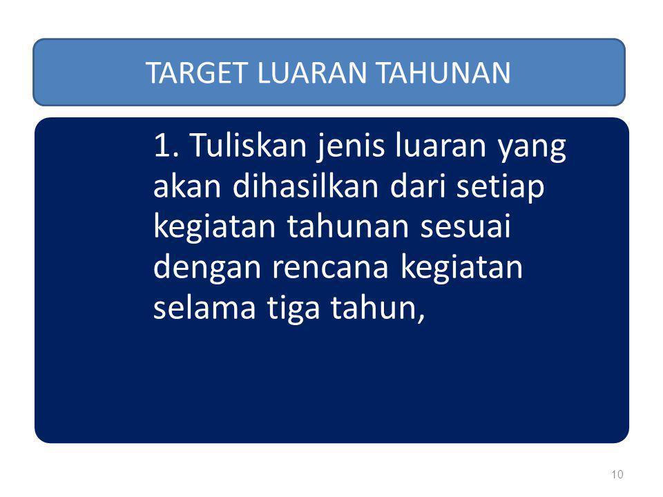 TARGET LUARAN TAHUNAN 1.