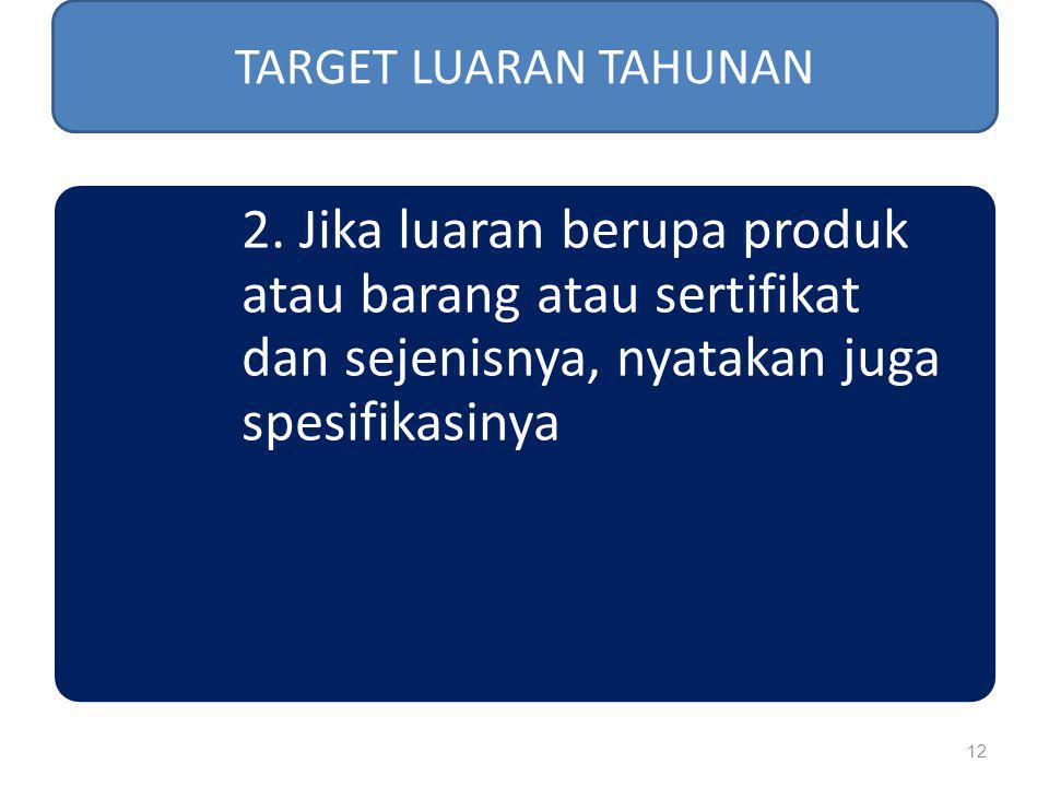 TARGET LUARAN TAHUNAN 2.