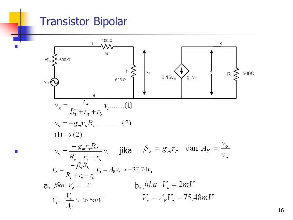 Transistor Bipolar jika a. b.