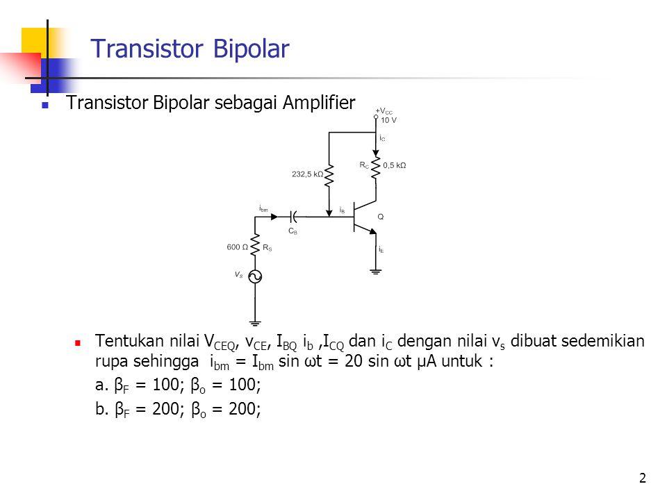 Transistor Bipolar Transistor Bipolar sebagai Amplifier