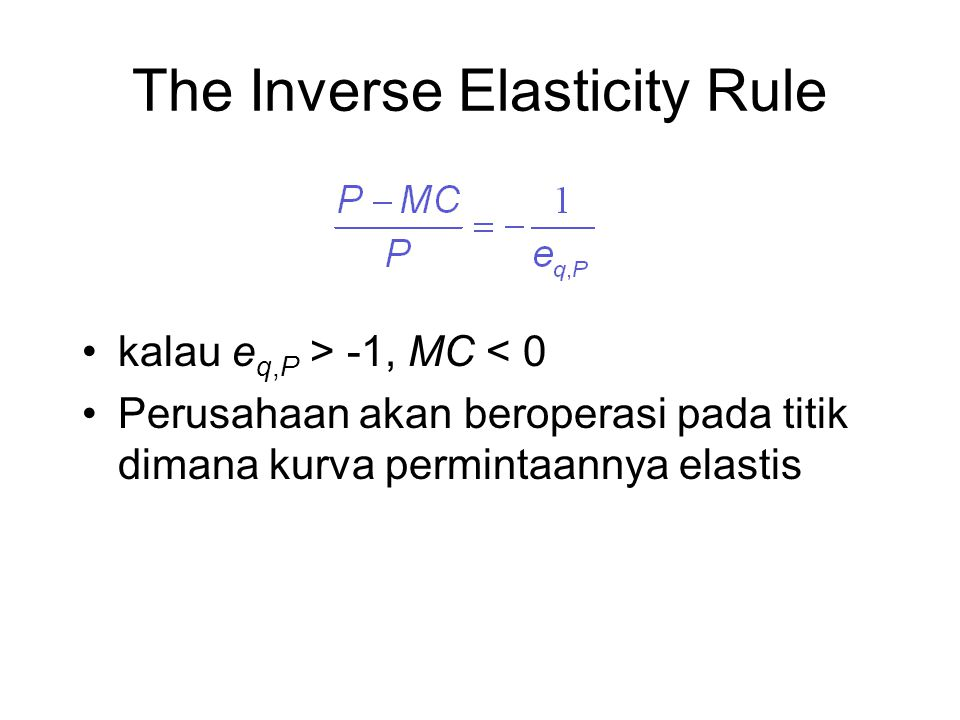The Inverse Elasticity Rule