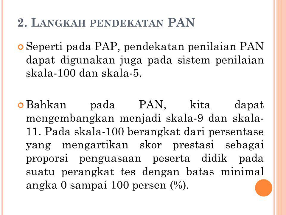 2. Langkah pendekatan PAN