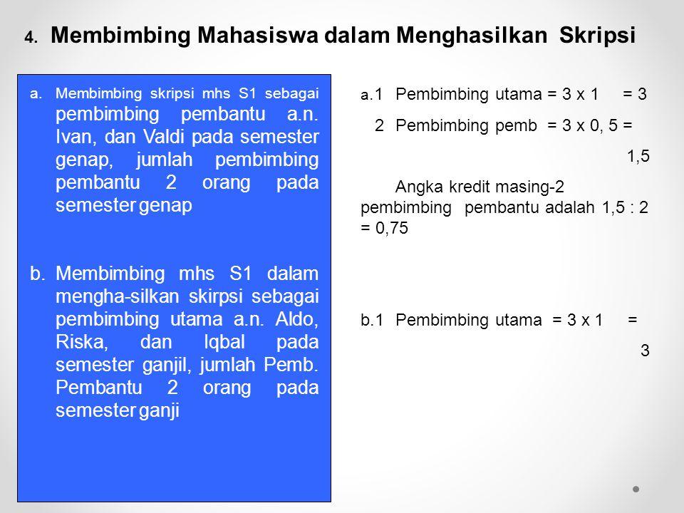 4. Membimbing Mahasiswa dalam Menghasilkan Skripsi