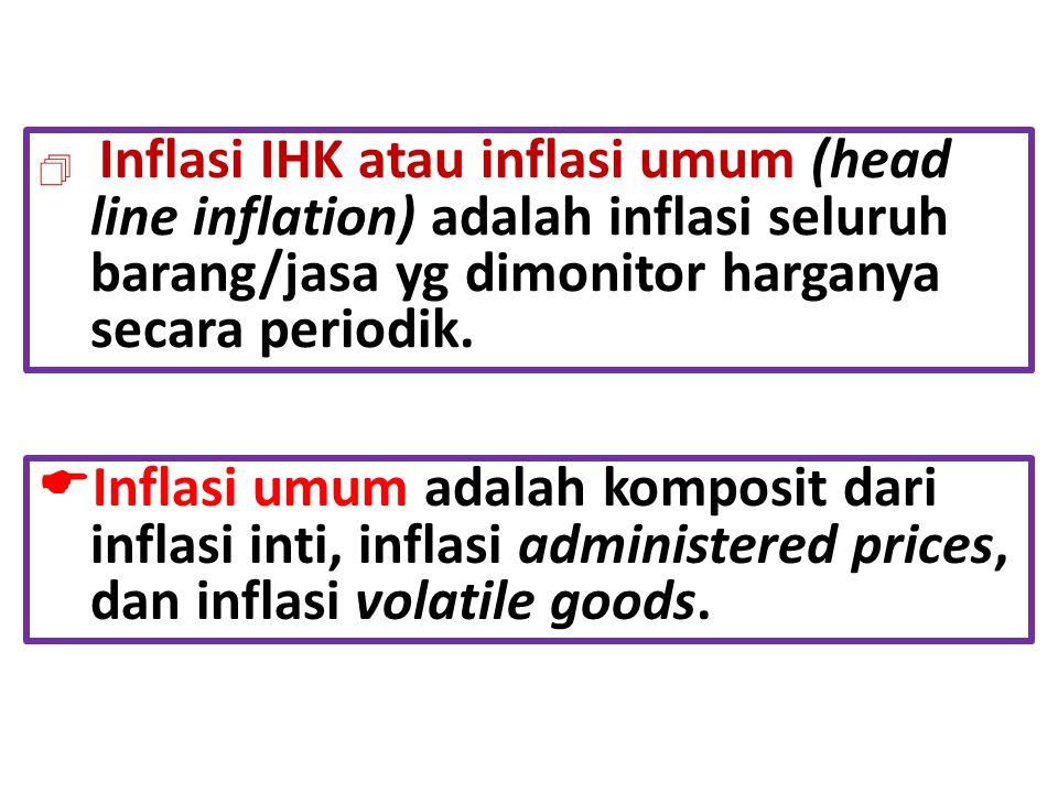 Inflasi IHK atau inflasi umum (head line inflation) adalah inflasi seluruh barang/jasa yg dimonitor harganya secara periodik.