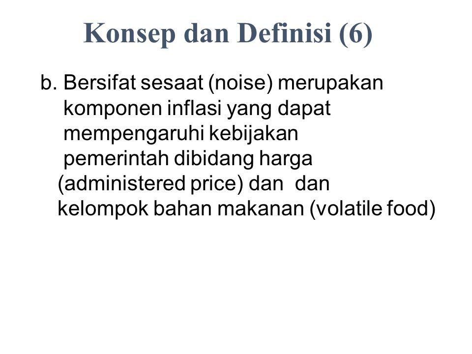 Konsep dan Definisi (6) b. Bersifat sesaat (noise) merupakan