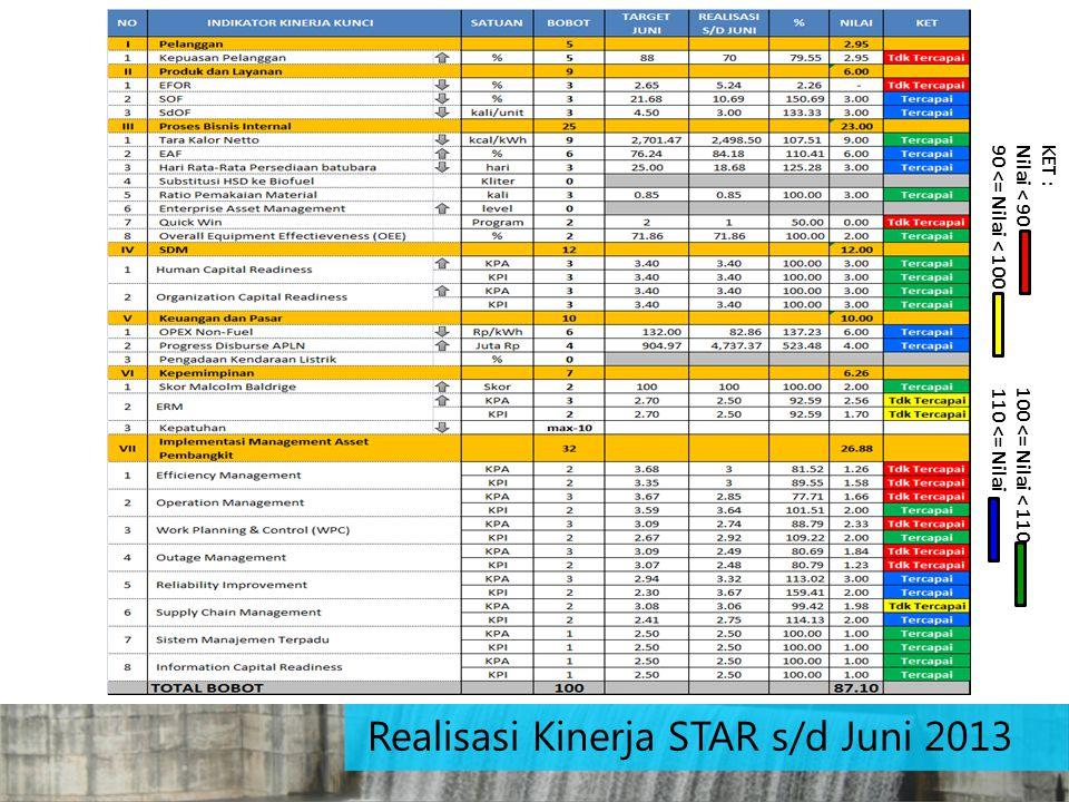 Realisasi Kinerja STAR s/d Juni 2013