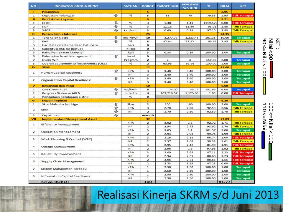 Realisasi Kinerja SKRM s/d Juni 2013