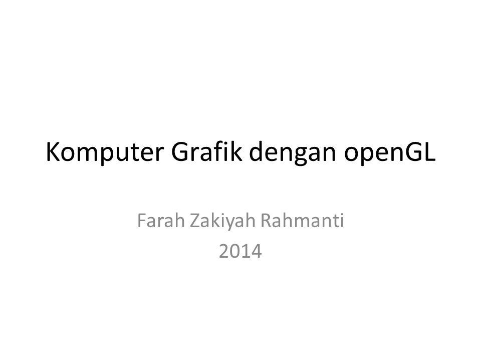 Komputer Grafik dengan openGL