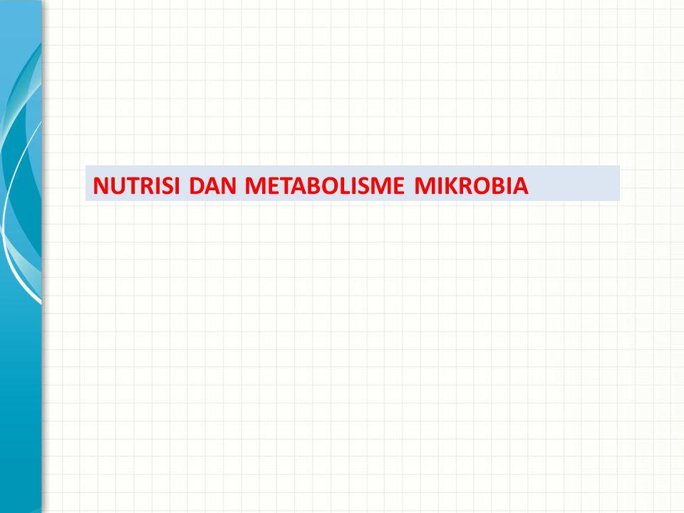 NUTRISI DAN METABOLISME MIKROBIA
