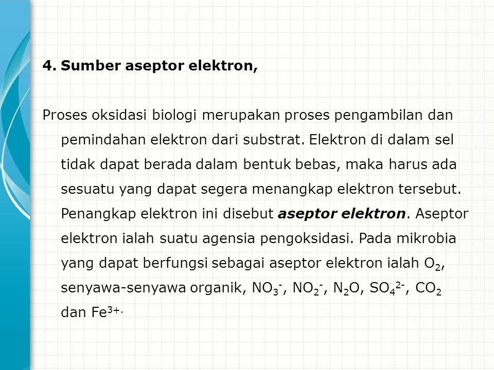 Sumber aseptor elektron,