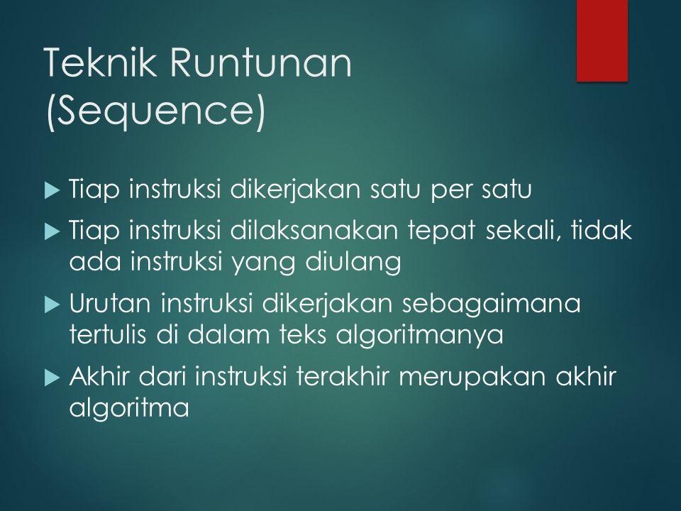 Teknik Runtunan (Sequence)