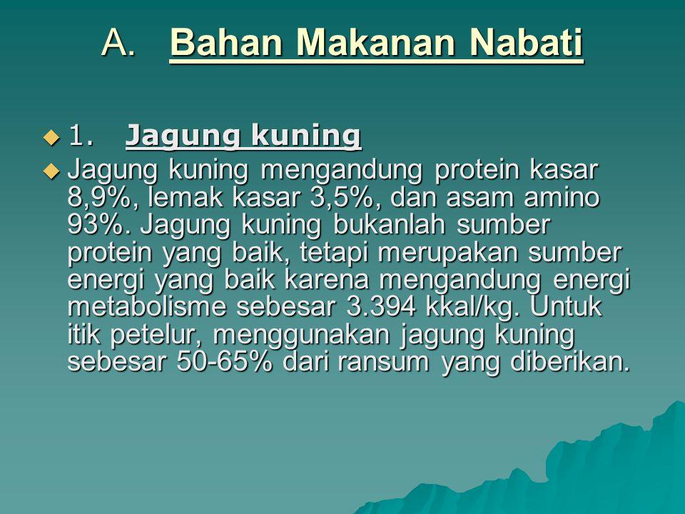 A. Bahan Makanan Nabati 1. Jagung kuning