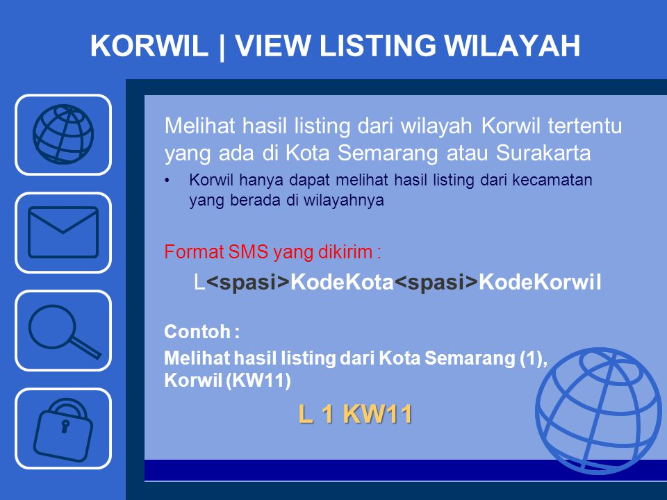 KORWIL | VIEW LISTING WILAYAH