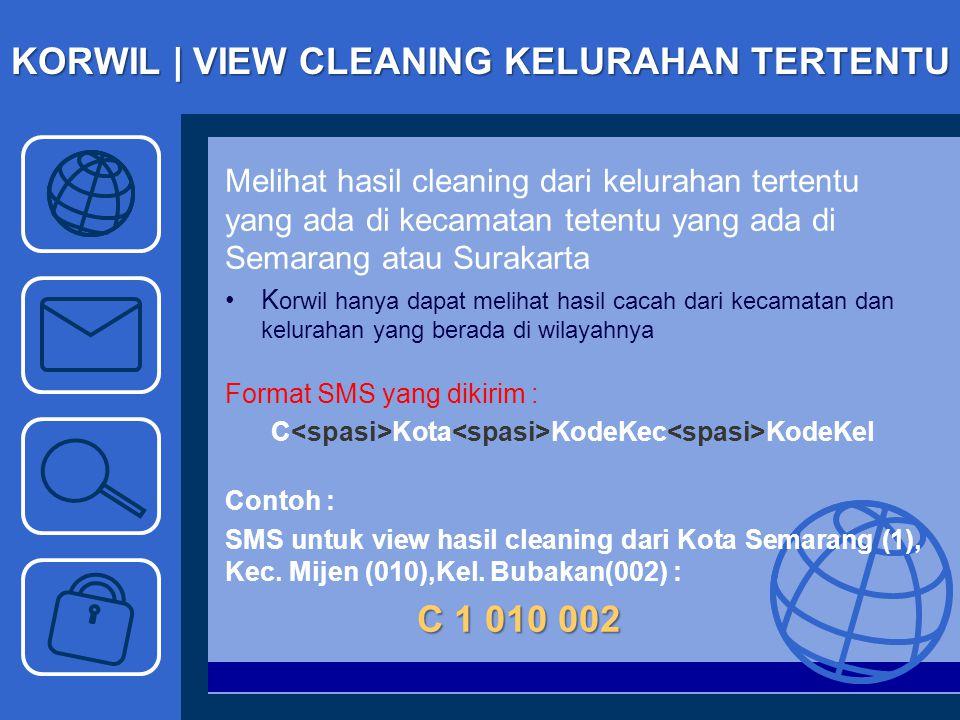 KORWIL | VIEW CLEANING KELURAHAN TERTENTU